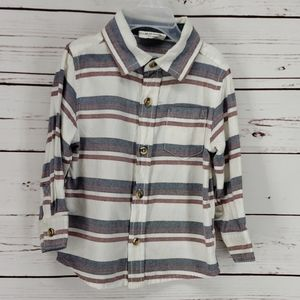 Crazy 8 striped long sleeve button down shirt